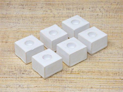 6x Handgefertigte Würfelleuchter aus Keramik, Kerzenhalter, gebraucht kaufen  Wird an jeden Ort in Deutschland