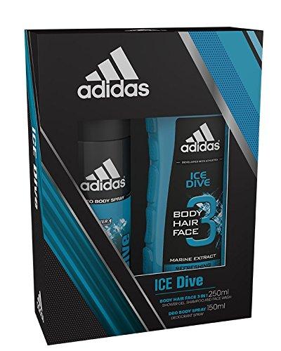 Adidas Ice Dive-Doppelpack mit Bodyspray und Duschgel