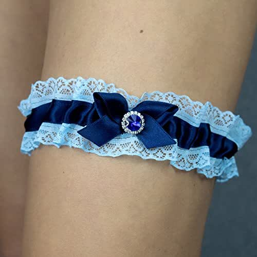 Giarrettiera di pizzo matrimonio sposa biancheria intima regali de nozze addio al nubilato blu