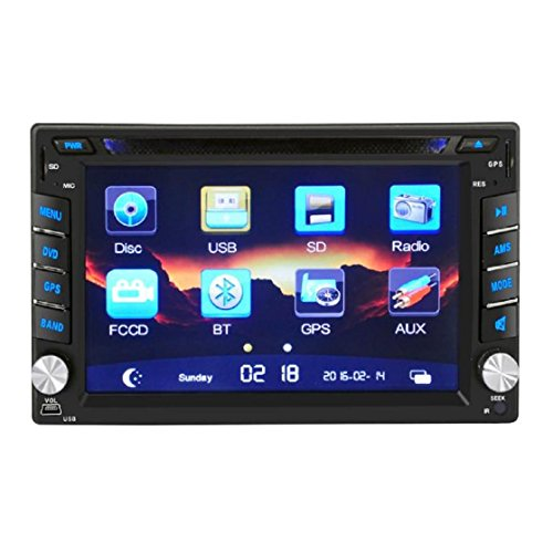 Auto-Audioempfänger,Kaiki 6.2 Inch GPS Navigation HD Double 2 DIN Car Stereo DVD Player Bluetooth Radio MP3 In Dash