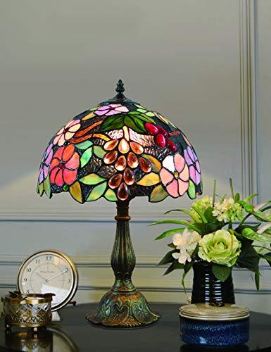 12 Zoll Vintage pastoralen wunderschöne Blumen Glasmalerei Stil Tischlampe Schlafzimmer Lampe Nachttischlampe -