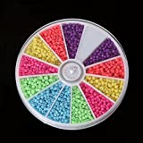 #7: 1000pcs 2mm Mixed Color Glass Seed Spacer Beads for Jewelry Making DIY (Fluorescent)