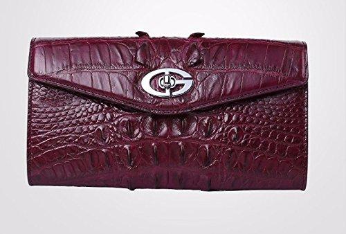 lpkone-Sac motif crocodile sacs à main des femmes sac motif crocodile Dames Dames sac de soirée sac motif crocodile Purple
