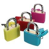 Outstanding® 2.3cm Mini Starke Reise Gepäck Koffer Laptop Tasche Vorhängeschloss mit zwei Tasten