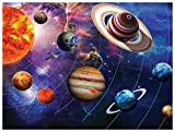 Puzzle 1000 Piezas Adultos Infantiles de Madera Sistema Solar Juego de Rompecabezas de Descompresión Portátil Juguetes Regalo de Desafío de Memoria Lógica para Amigo