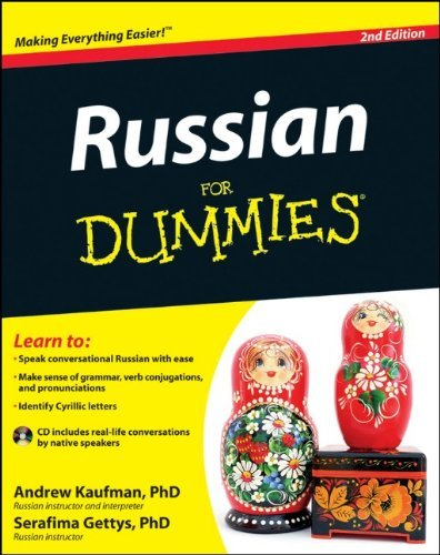 Portada del libro Russian For Dummies by Andrew Kaufman Ph.D. (2-Mar-2012) Paperback