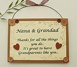 Best Nanas - Nana and Grandad keepsake wooden plaque/sign Review
