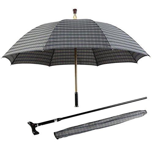 XUAN Walking Cane Umbrella Älteres Anti - Skid Robe Reisen Bergsteigen Repellant Stoff Schutz Extra Large Full Size , d