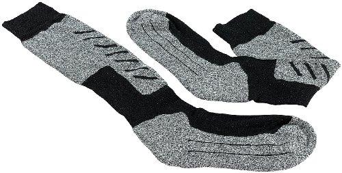 PEARL sports Skisocken: Atmungsaktive Ski- und Snowboard-Socken, Gr. 43-46 (Strümpfe)