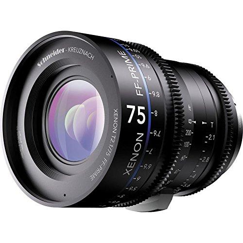 """'Schneider de Kreuznach 1078352cine lente """"FF de Prime T2.1/75mm, pl/FT Negro"""