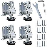 Sumnacon Zware Verstelbare Meubels Leveler 4 stks M10 Meubels Leveling Voeten voor Tafels, Rekken Eenheden, Kasten, Werkbank