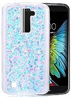 "LG K10 Coque Silicone, LG K10 Etui, Coque LG K10, Nnopbeclik® Soft/Doux Silicone Transparente ""paillette brillant"" Backcover Housse ""K420N"" (5.3 Pouces) Antiglisse Anti-Scratch Etui"