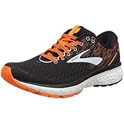 Brooks Ghost 11, Scarpe da Running Uomo, (Black/Silver/Orange 093), 41 EU