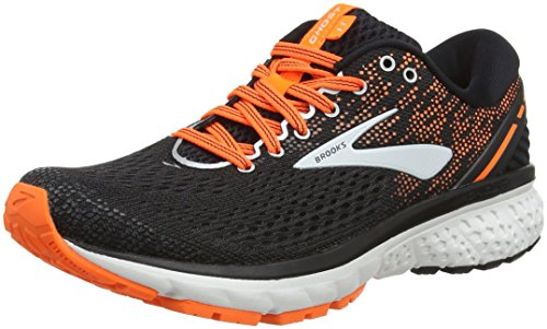 Brooks Ghost 11, Scarpe da Running Uomo, Multicolore (Black/Silver/Orange 093), 45 EU