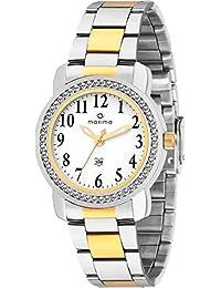 Maxima Analog White Dial Women's Watch-43012CMLT