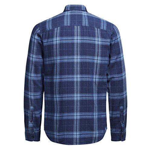 Jack & Jones -  Camicia Casual  - Uomo Blu