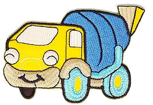 Gelb Zement Truck Cartoon Hippie Retro Biker Jacket T-shirt Vest Patch Sew Iron on gesticktes Badge Custom (Zement-patch)
