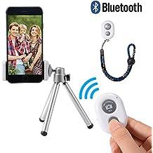 3in1 Bluetooth Smartphone Cámara Photo Selfie Kit, Mini Tripod + Bluetooth Remote Shutter + Phone titular para el iPhone 7 / 6S / 6, Samsung Galaxy LF800