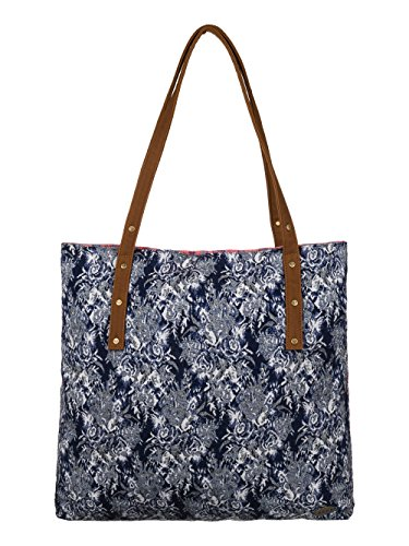 Roxy TRIP OUT ERJBT03001 Damen Shopper 1x42x43 cm (B x H x T), Blau (DARK DENIM) - Quiksilver Blue Denim