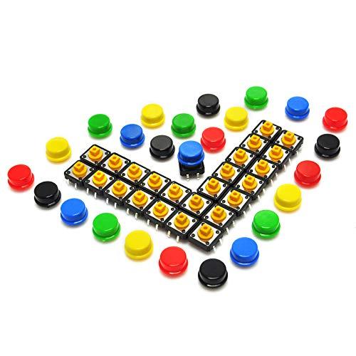 Switch Push-button-cap (gikfun 12x 12x 7,3mm taktile Tact Push Button Momentary SMD PCB Schalter mit Cap für Arduino (25Stück) ae1027u)