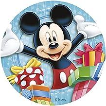 Mickey Mouse - Decoración para tarta de azúcar comestible (20 cm) Producto con licencia