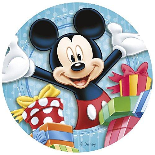 Mickey Mouse - Decoración para tarta de azúcar comestible (20 cm) Producto...