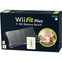 Wii Fit Plus + Balance Board Nera [Importación italiana]