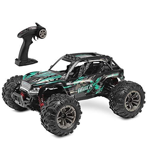 XLH 1:16 ferngesteuertes Auto für Kinder und Erwachsene, 36 km/h, 2,4-GHz Funkfernsteuerung, ferngesteuerte elektronische Autos, wasserdichte geländegängige ferngesteuertes 4WD-LKW, Grün