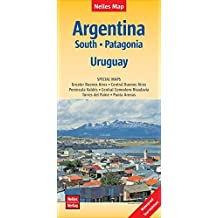 Nelles Map Landkarte Argentina: South, Patagonia, Uruguay: 1:2.500.000 | reiß- und wasserfest; waterproof and tear-resistant; indéchirable et ... & impermeable (Nelles Map / Strassenkarte)