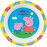 FUN HOUSE 005172 Peppa Pig Assiette pour Enfant, Polypropylene, Bleu, 22 x 22 x 1 cm