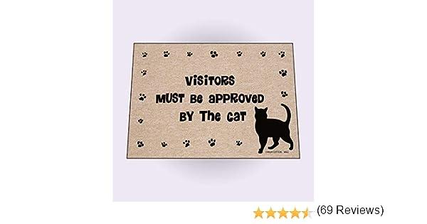 /Kitty Paws Welcome Tapis Les visiteurs Doivent /être approuv/és par le chat Paillasson/
