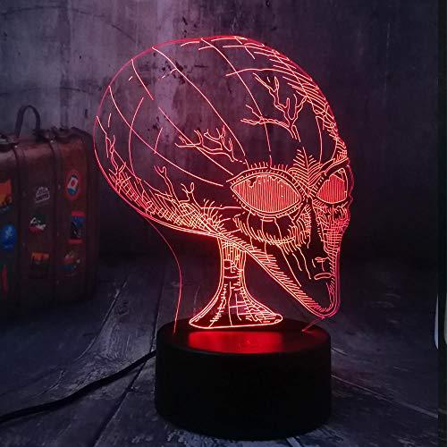 Zcmzcm 3D Nachtlichter Neuheit Film Cosmic Space Alien Et Led Nachtlicht Usb Tischlampe Wohnkultur Kind Kind Spielzeug Halloween Weihnachtsgeschenk (Wie Filme Halloween)