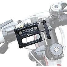Supporto bicicletta lega di alluminio Moto mount per Cellulare Smartphone GPS, Cellulare Supporto Nero