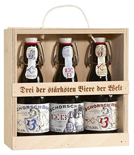 Hirdes - 'Schorsch - Die 3 Stärksten' Bier-Set 13% Vol. Starkbier - 3x0,33l inkl. Pfand