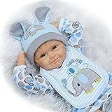 ZIYIUI 55cm Reborn Echte Baby Puppe Weich Silikon Vinyl Magnetisch Mund Naturgetreue Jungen Mädchen Spielzeug Reborn Doll