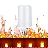 Shsyue® 8W E27 LED Flamme Flackernde Wirkung Glühbirne/Dynamischem Feuereffekt Lampe/Feuer Birnen für Weihnachten, 3 Modi:Flackernder Flammenmodus/Immer Heller Modus/Atmungsmodus. (E27 13.7CM)