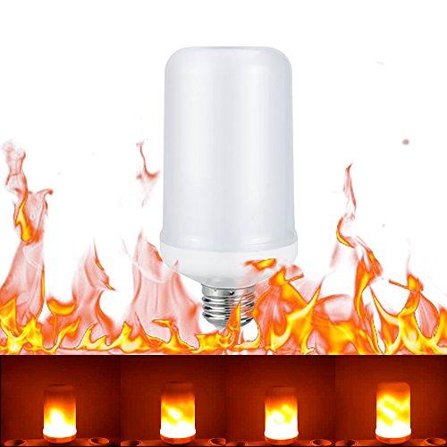 feuereffekt lampe Shsyue® 8W E27 LED Flamme Flackernde Wirkung Glühbirne/Dynamischem Feuereffekt Lampe/Feuer Birnen für Weihnachten, 3 Modi:Flackernder Flammenmodus/Immer Heller Modus/Atmungsmodus. (E27 13.7CM)