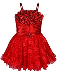 Wish Karo Baby Girls Frock Dress (red/Pink -net)