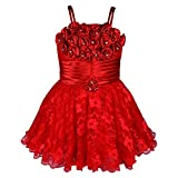 Wish Karo Baby Girls Frock Dress (fr104rd-6-12 Mths Red 6-12 Months)
