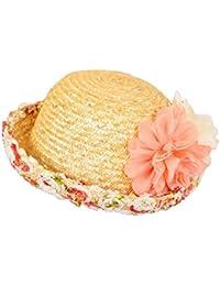 JUNGEN Flores Verano la Moda Señoras Gorra Visera Tapa Señoras Sombrero Sombrero de playa Amarillo