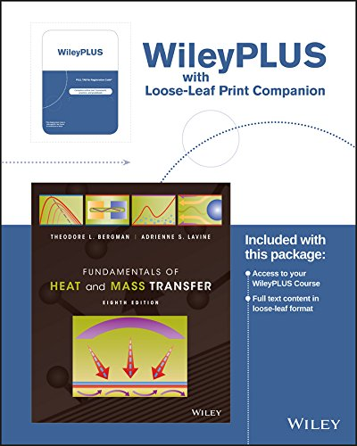 Fundamentals of Heat and Mass Transfer Wileyplus Registration Card + Print Companion por Theodore L. Bergman