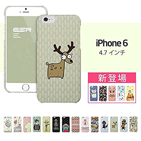 iPhone 6 Case,Illustration Case, ESR Illustrators Series Protective Case [Scratch-Resistant] [Perfect Fit] [Anti-Slip] [Good Grip] Hard Back Cover with Exquisite Print for 4.7 inches iPhone 6(Comic Mate Elk)