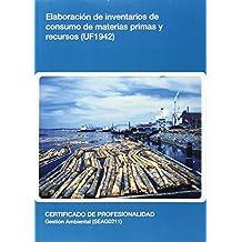 Elaboración de inventarios de consumo de materias primas y recursos (UF1942)