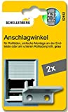 Schellenberg 52102 Anschlagwinkel für Rollladen, grau