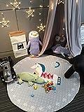 Organizador estera de Juegos para niños saco recoge juguetes con cuerdas Size 140 cm de diámetro (troyano)