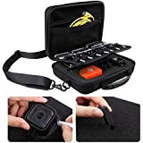 Extra Large Carrying Case for GoPro Hero 4, Session, Black, Silver, Hero+ LCD, 3+, 3, 2, 1 by CamKix with Shoulder Strap and Customizable Interior and Accessories