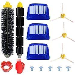 Kit Cepillos Repuestos de Accesorios para Aspiradoras iRobot Roomba Serie 600 605 610 615 616 620 625 630 631 632 639 650 651 660 670 680 681 691-15PCS