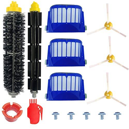 Accessoire pour iRobot Roomba Série 600 Kit d'entretien avec Brosses & Filtres pour 600 605 610 615...