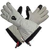 Glovii - Thermoaktive Ski Beheizte Handschuhe Von Batterie Erhitzt, Größen: S, M, L, XL, Hellgrau (S)