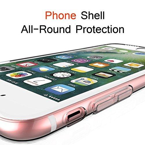 Per Apple iphone X 5.8 Case Cover, Sunroyal [Anti-scratch] [Protezione goccia] TPU Gel Silicone Custodia Caso Creative logo Morbido Copertura Trasparente Cristallo Chiaro Bumper Soft Skin Protezione, Modello 21